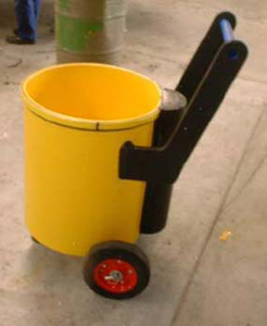 HDPE grout mixing tank on wheels
