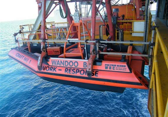 Custom Poly Workboat PolyRib 6300 oil rig