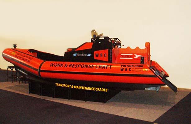 Custom Poly Workboat PolyRib 6600 on show