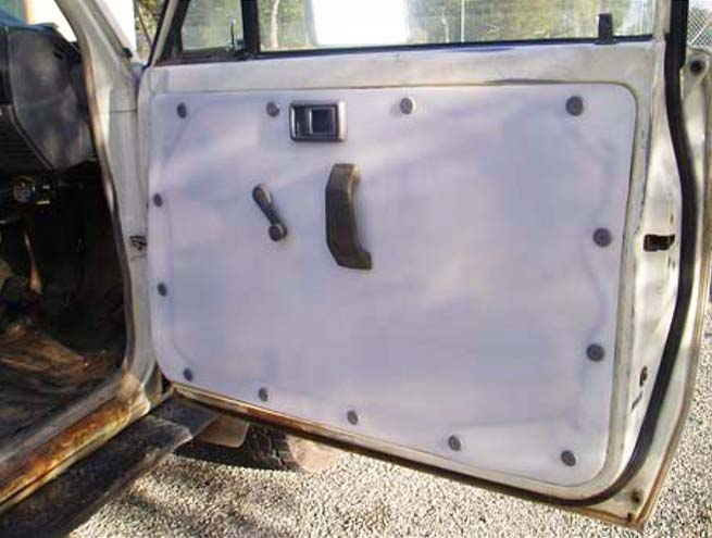 Custom designed and fabricated Protective Door Lining for Mining Underground vehicles