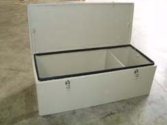 Poly storage box for Fast Rescue Craft