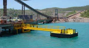 Poly pontoon for offshore walkway - Tide in