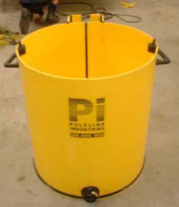 HDPE grout mixing tank