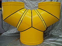 PolyDuct fitting trouser leg