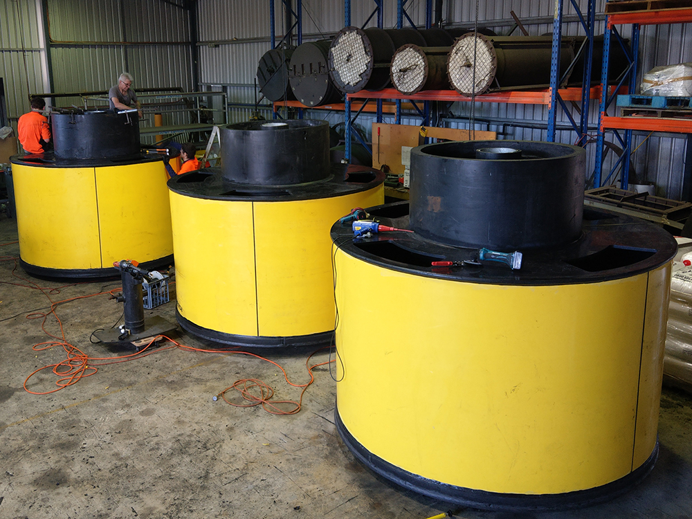 Poly Buoys manufactured by Polyline Industries